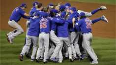 Photo by The Associated Press. The Chicago Cubs celebrate after Game 7 of the Major League Baseball World Series against the Cleveland Indians in Cleveland on Nov. The Cubs won in 10 innings to win the series Don't you love it when the game World Series Game 7, World Series 2016, First World Series, Chicago Cubs World Series, Cleveland Indians, Cleveland Ohio, Hockey, Basketball, Baseball Highlights