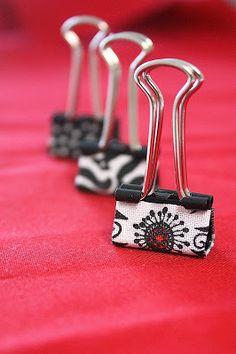 super cute office supplies like these Mod Podge DIY binder clips!