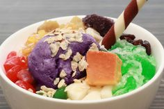 We're pretty proud of this one - just in time for summer. Halo-Halo Deluxe is our colourful, fun tribute to the spirit of Filipino food art!  Mix away and enjoy.