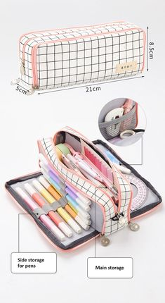 Aesthetic Check Pencil Cases – NotebookTherapy - Aesthetic Check Pencil Cases – NotebookTherapy The Effective Pictures We Offer You About diy home - Stationary Supplies, Stationary School, Cute Stationary, School Stationery, Art Supplies, School Pencil Case, Cute Pencil Case, Pencil Case Tutorial, Middle School Supplies