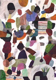 Resultado de imagen para collage artist abstract