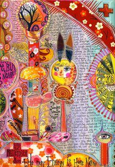 Teesha Moore #art #journal #sketchbook #colorful