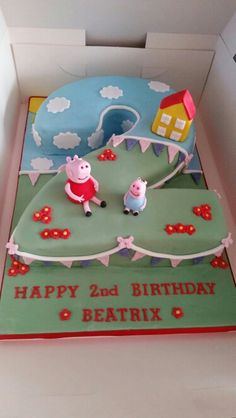 Peppa Pig Number  Cakes Cake By The Cake Cwtch Sweet Ideas - Owl percy pig birthday cake