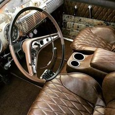 Best Pick Up Truck Interior Ford 54 Ideas Chevy Pickup Trucks, New Trucks, Custom Trucks, Cool Trucks, Custom Car Interior, Truck Interior, Interior Ideas, Automotive Upholstery, Car Upholstery