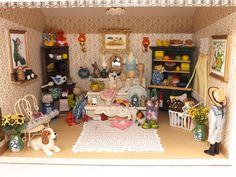 Shop Bits  Bobs with all contents and lights dolls house complete mixed goods