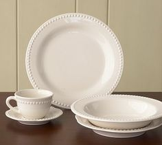 My favorite dishes. I am lucky to have a few of these and the food tastes better off of them! (Pottery Barn: Emma)