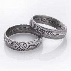 Snubní prsteny kovaná nerezová ocel damasteel DA-1001