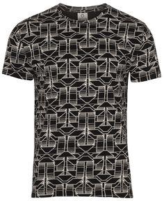 Herren T-Shirt «Tumelo Herren T Shirt, Button Down Shirt, Men Casual, Mens Tops, Fashion, Lingerie, Cotton, Black, Moda