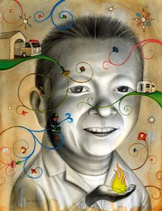 14 Great Examples of Imaginative Portrait Painting by Chris Buzelli | Art of Day