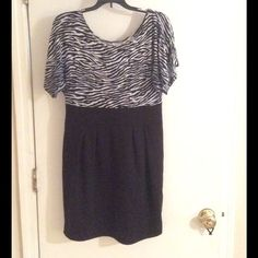 Cute dress Zebra printed top black bottom super cute. 23 in from armpit to hem. Preloved good condition. Dresses