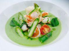 Denny Chef Blog: Crema di Asparagi pugliesi con insalata di gamberi viola