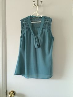 Own - teal top lace detailing