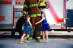 FF Dad and kids at the Station