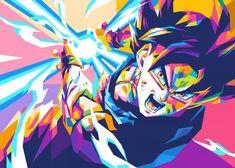 Pop Art Posters, Poster Prints, Poster Frames, Vintage Posters, Dragon Ball Image, Girls Anime, Son Goku, Vampires, Neon
