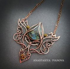 necklace with labradorite by nastya-iv83 on @DeviantArt