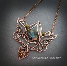 necklace with labradorite by nastya-iv83 on @DeviantArt