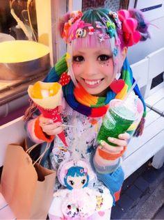 原宿きっず!の画像   紅林大空オフィシャルブログ「エディーとマーシー」Powered by … Japanese Street Fashion, Tokyo Fashion, Harajuku Fashion, Kawaii Fashion, Cute Fashion, Harajuku Style, Harajuku Girls, Fashion Images, Pastel Goth