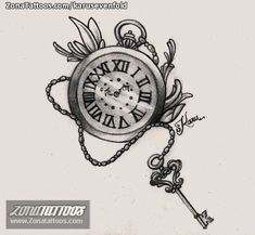 Center of boobs Clock Face Tattoo, Clock And Rose Tattoo, Clock Tattoo Design, Tattoo Designs, Pocket Watch Drawing, Pocket Watch Tattoos, Mini Tattoos, Body Art Tattoos, Sleeve Tattoos