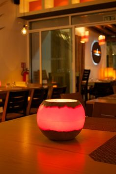 #Centerpiece Sphere 8 with double sand base for your #restaurant.