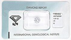 Foto 1, Diamant IGI!!! 1,01ct Lupenrein Top-Wesselton-G Diamond, D5536