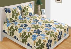Review on shades of blue double bed sheet. http://blog.skipperhomefashions.com/product-review-shades-blue-double-bed-sheet/