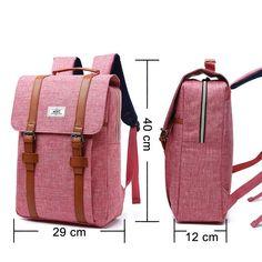 Canvas Laptop Backpacks Large Capacity Fashion Backpack For College & Travel Source by natizambra bags Best Travel Backpack, Dog Backpack, Laptop Rucksack, Apple Laptop, Dog Carrier Bag, Nylons, Laptops For Sale, Vintage Man, School Backpacks