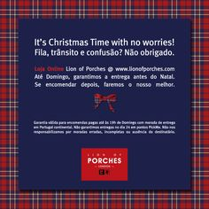 Evite confusão e faça as suas compras de Natal confortavelmente. Loja Online Lion of Porches @ www.lionofporches.com