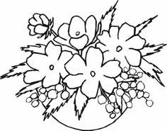 Znalezione obrazy dla zapytania szablony kwiatów do wydrukowania