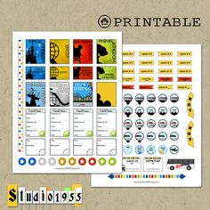 Planning the Magic PRINTABLE Disney World planner stickers; Erin Condren; Happy Planner; Brother ScanNCut compatible