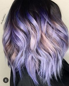 Switching things up a bit  LOVE THIS dimensional Rose and Violet Lob by @_heyhelena! Thanks for tagging #behindthechair!  #colormelt #hairdresser #haircolor #hair #colorist #salon #handpainted #balayage #ombre #bob #lob #wavybob #longbob