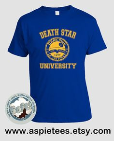 Star Wars Tshirt Funny Death Star University Funny by AspieTees
