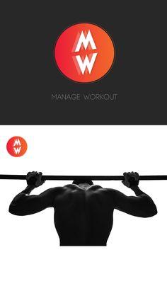 #Logos #logo #logotype #design #lettering #calligraphy #minimal #app #workout #work #train #muscule #fit #fitness