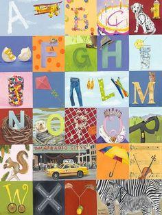 Vibrant Alphabet Wall Art Makes Your Children Happy: Alphabet Wall Decor ~ virtualhomedesign.net Wall Decals Inspiration