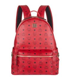 MCM Medium Stark Backpack. #mcm #bags #leather #lining #canvas #backpacks #