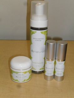 Anti-Aging Skin Care System - Age Defense Cream, Age Defense Serum, Exfoliate Facial Scrub, Gentle Foaming Cleanser by DU Skin Care. $103.99. No Artficial Fragrances, Perfumes or Colors!. 100% Natural & Hypo-allergenic. Not Tested on Animals. Sold Individually, these items retail at over $146!. Fast Absorbing, Paraben-Free. Rejuvenate your skin!  Get that youthful look back again!  Cleans off make-up, old skin cells, replenishes moisture, improves skin tone, and reduces deep l...