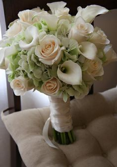 round calla lily hydrangea and rose bouquet - Google Search
