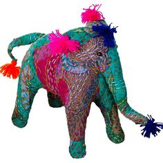 I pinned this Stuffed Kantha Elephant from the Modelli Creations event at Joss and Main!