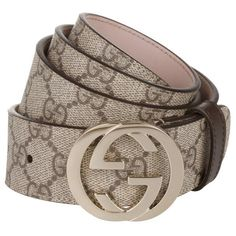 6a98f30968d7 Gucci Cintura Donna GG Supreme Belt Beige Cocoa in brown