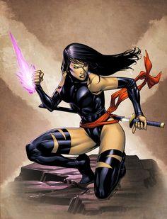 Psylocke by *spidermanfan2099 on deviantART