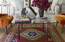 Calvin Klein's Malcom Carfrae's Living Room -Malcolm Carfrae Hamptons Cottage - ELLE DECOR