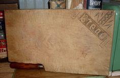 bread board & knife
