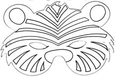 tiger mask printable - Google Search