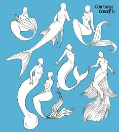 result for mermaid pose reference Drawing Sketches, Cool Drawings, Art Sketches, Drawing Ideas, Drawing Tips, Drawing Tutorials, Mermaid Pose, Mermaid Art, Manga Mermaid