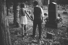 Cemetery Engagement Photos - Malissa Ahlin Photography