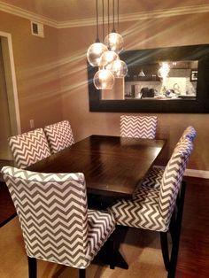 Chevron Dinning Room Chairs