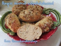 Bagett túróval, zabpehelyliszttel (Gluténmentes) Diabetic Recipes, Diet Recipes, Diet Tips, Baked Potato, Sausage, Food And Drink, Gluten Free, Beef, Chicken