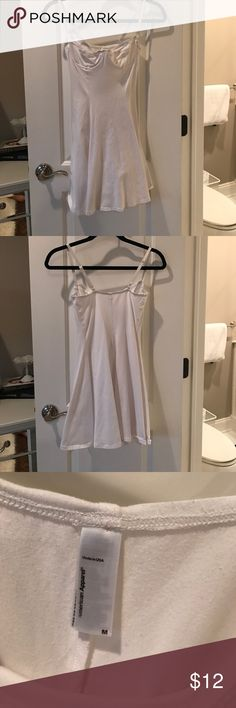 American Apparel White Bustier Dress White mini dress featuring a bustier top and flared skirt American Apparel Dresses Mini