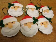 Felt Christmas Tree Decorations-maybe little boots, helmets, axes, dalmations