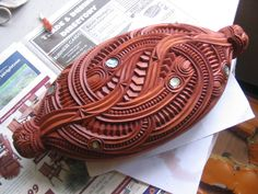 Maori Waka Huia - by Daniel Ormsby Polynesian People, Polynesian Art, Polynesian Culture, Maori Patterns, Maori People, Maori Designs, New Zealand Art, Nz Art, Maori Art