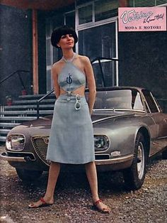 "In 1965, the 2600 SZ appeared in a photo shoot for ""Moda e Motori"""